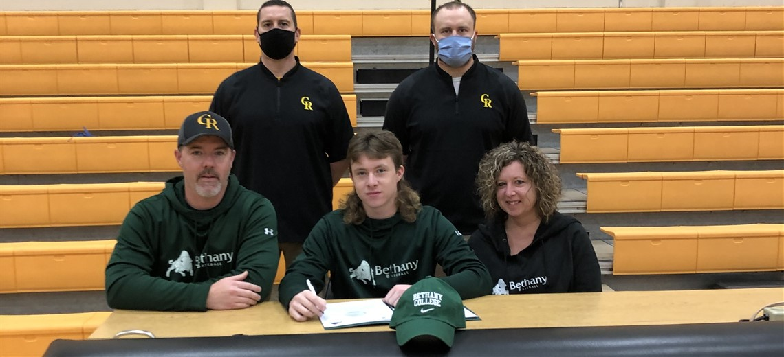 Congratulations to Keith Berger on signing his letter to continue his academic and baseball career at Bethany College.