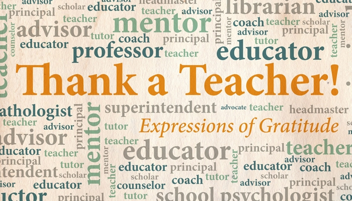 National Teacher Appreciation Week is May 2-6