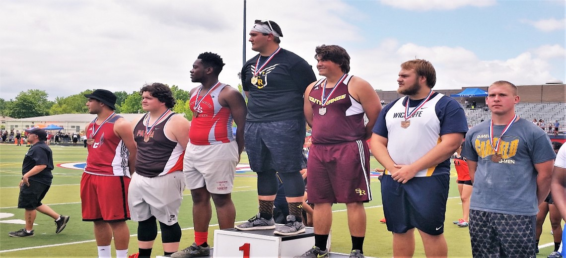 Dom Perry OHSAA State Track and Field-shot put-3rd Place
